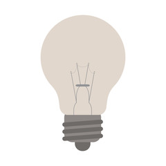 flat design regular lightbulb icon vector illustration
