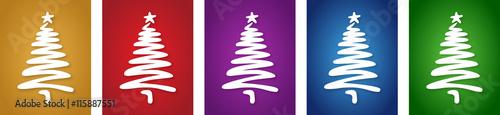 weihnachtskarten set eingeschneiter weihnachtsbaum mit. Black Bedroom Furniture Sets. Home Design Ideas