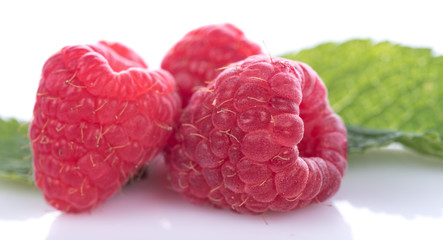 Tasty fresh raspberries