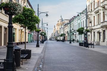 Ulica Piotrkowska w łodzi, zabytkowe kamienice Fototapete