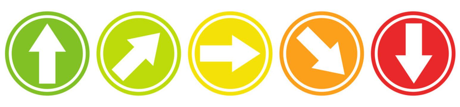 Trend Pfeile 5 Fach Ampel Farben