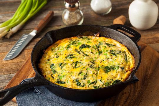 Homemade Spinach and Feta Fritatta