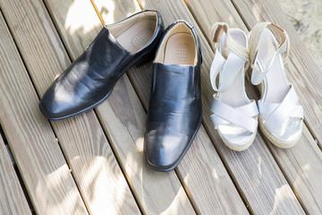 wedding shoe and wedding decoration
