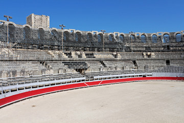 Roman amphitheatre in the southern French town of Arles