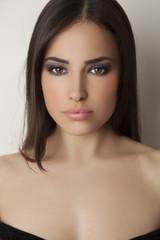 smokey eyes beauty portrait