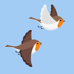 Flying robins