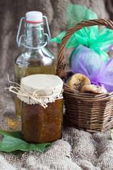 Autocollant pour porte Pique-nique lavender syrup and fig jam