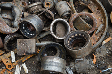 Useless, rusty bearings and other parts