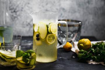 Ice lemonade glass jug.