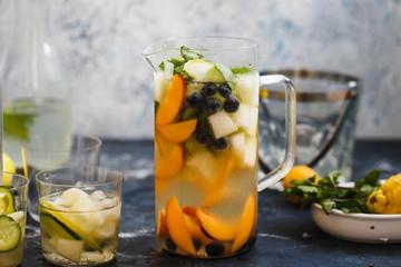Green sangria cocktail