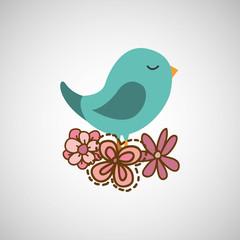 bird flower nature