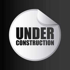 under construction stamp isolated icon design