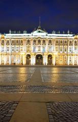 View of Winter Palace at night.