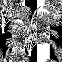 tropical lack and white pattern