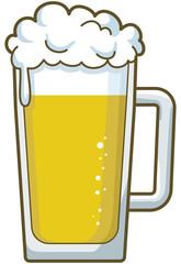 ビールジョッキのイメージイラスト
