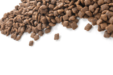 Cat food isolated on white