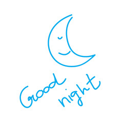 Hand drawn good night