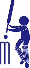 Sport icon design for cricket