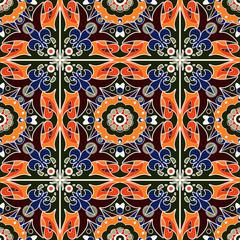 Garden Poster Moroccan Tiles Seamless beautiful antique pattern ornament. Geometric backgroun