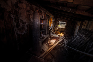 Ghost Town in Bodie Hills east of the Sierra Nevada mountain range in Mono County, California, Interior
