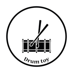 Drum toy icon