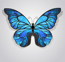 blue butterfly morpho