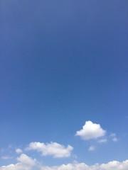 kleine weiße Wolke