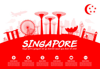 Beautiful Singapore Travel Landmarks.