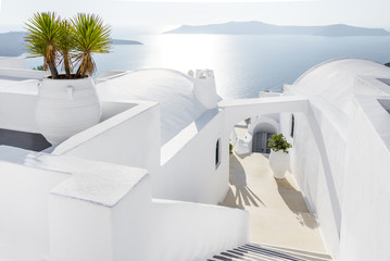 White architecture in Santorini, Greece