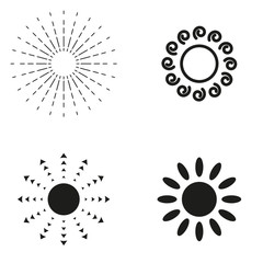 Sun icon vector collection