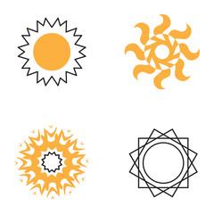 Sun icon vector collection