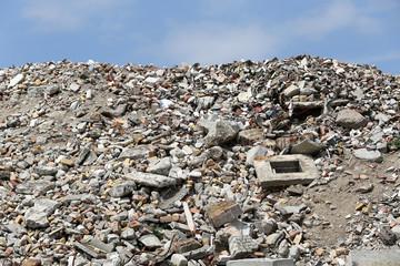 Bauschutt auf Recyclinghof