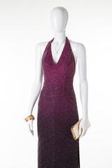 Fashionable evening dress.