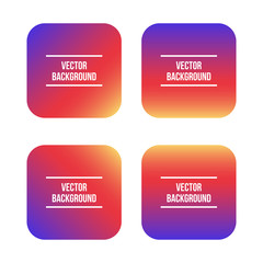 Vector design elements, trendy colorful gradient background set, collection. Instagram inspired.