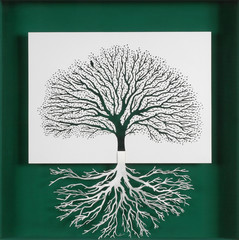 The tree and its roots. mirror image of the branches of a tree and its roots. As Yin and yang, creating balance and serenity.