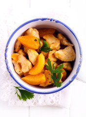 Chicken breast with apricot