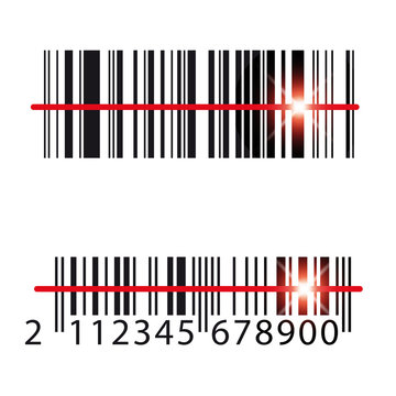 Barcode Icon label vector