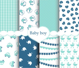 Baby boy patterns set