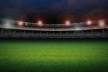 Photo sur Aluminium Stade de football empty stadium with soccer field
