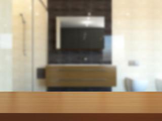 3D-rendering modern bathroom in a big house