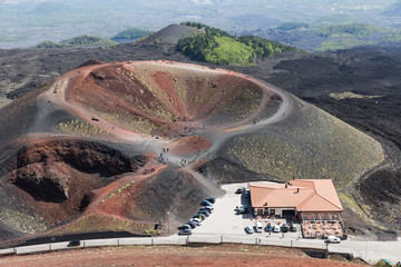 Silvestri crater at the slopes of Mount Etna at the island Sicily, Italy
