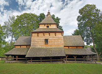St. Paraskevi Church in Radruz, Gothic, wooden church in the village of Radruz from the sixteenth-century, it is as part of the UNESCO Wooden tserkvas of the Carpathian region in Poland and Ukraine