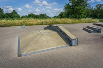 skate ramp in skate park