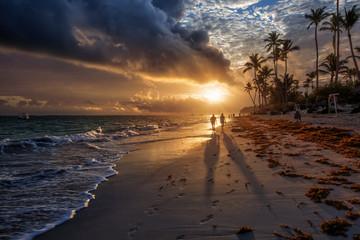 Sunrise in Punta Cana in Dominician Republic