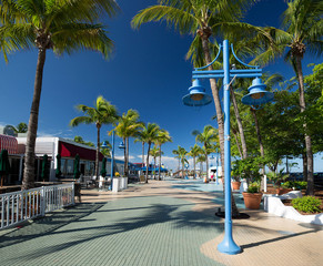 Times Square is a popular tourist destination in Fort Myers Beach and is considered the heart of Estero Island.