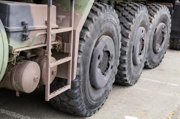 Side of heavy duty truck