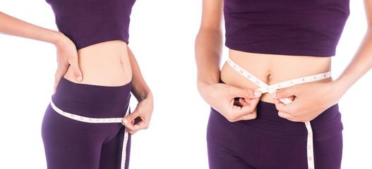 young woman slim waist