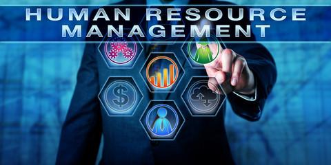 Manager Pushing HUMAN RESOURCE MANAGEMENT