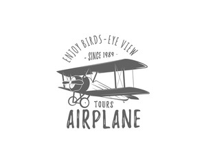 aeroplane, logo, icon, vector