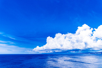 Sea, clouds, landscape. Okinawa, Japan, Asia.